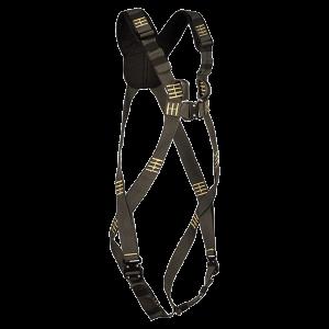 FLAMSKYDDAT fallskyddsele för smidig användning med snabbspännen. Selet har 2 stycken infästningspunkter, en fram och en bak.