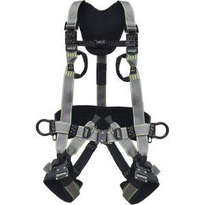 Fallskyddsele utrustad med öglor för stödlina och 2 kopplingsöglor för fallskyddsutrustning